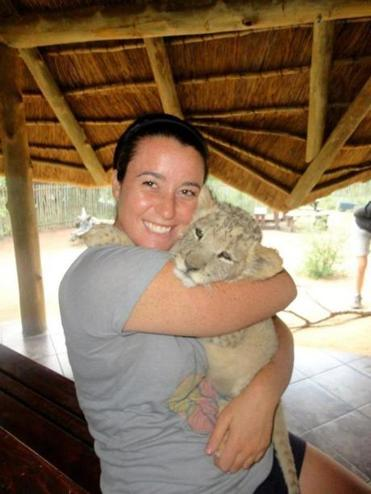Sarah McKay went to South Africa last fall for a co-op program that included work at a lion breeding facility.
